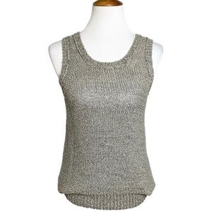 Anthropologie Speckled Knit Sleeveless Tank Top